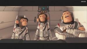Les chimpanzés de l'espace